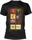 GAME OF THRONES House Block Sigils T-SHIRT OFFICIAL MERCHANDISE