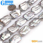Natural Nuclear Edison Pearl Rectangle Beads For Jewelry Making Free Shipping