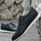 Oxford Mens New Casual Black Faux Leather Smart Formal Lace Up Shoes UK SIZE