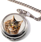 Maine Coon Cat Full Hunter Pocket Watch (Optional Engraving)