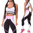 Fashion Women Sexy Casual Sport Gym Yoga Running Tops Trousers Athletic Apparel