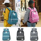 Girls Canvas Backpack School Laptop Travel Rucksack Satchel Fashion Shoulder Bag