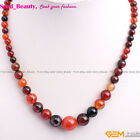 Natural Stone Beads Graduated Beaded Princess Jewelry Necklace with Gift Box image