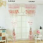 Sunflower Voile Curtain Window Flower Tulle Curtain For Living Room Kitchen 1x2M