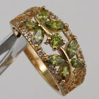 Size6 7 Great Peridot Green Butterfly Gems Jewelry Yellow Gold Filled Ring R2663