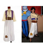 Halloween Party Prince Aladdin Faux Satin Cosplay Costume Adult Men Full Suits