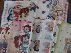 Rare Raggedy Ann & Andy Dish Cloth and Towels - Camel Tree Apples Flowers Japan