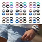 6Pcs Men Women Silicone Wedding Ring Outdoor Work Sport Flexible Rubber Band