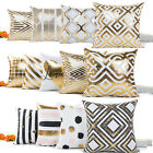 Gold Foil Printing Cushion Cover Decor Sofa Bed Fashion Throw Pillow Case Best