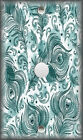 Metal Light Switch Plate Cover - Peacock Feathers Art Teal Home Decor Feathers