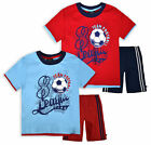 Boys Football Short Sleeved T-Shirt And Shorts Kit New Kids Red Blue Set 2-6 Yrs