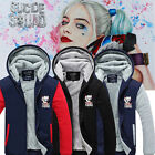 Suicide Squad Harley Quinn Jared Leto Men Boy Jacket Hoodies Sweater Winter Coat