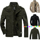 Spring men's military cotton jackets casual collar jacket coat parkas outwear