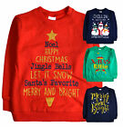 Kids Christmas Jumper New Boys Girls Xmas Cotton Sweatshirt Top Age 7 - 13 Years