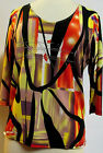 Valentina Top Multi Colored Blouse  Style 8763 1 Studed Polly NWT  Size Small