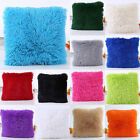 Soft Fur Plush Square Throw Pillow Cases Home Decor Sofa Waist Cushion Cover