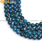 New Round Soomth Green Chrysocolla Beads Gemstone for Jewelry Making Strand 15""