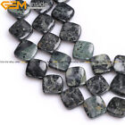 16mm Natural Twisted Square Kambaba Jasper Stone Beads for Jewelry Making 15''