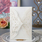 Ivory Laser Cut Wedding Invitation Cards Party Home Decor Personalized Envelopes