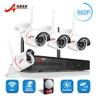 4/6CH 960P Wireless IP Camera Security System WIFI CCTV Home Surveillance 1TB