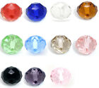 50 Crystal Glass Faceted Rondelle Beads 10mm M0144