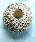 2 Laser Cut .925 Silver Bali Sparkling Round Beads choice of sizes #ZD001