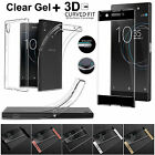 Shockproof Full Curved 3D Tempered Glass With TPU Gel Case For Sony Xperia Phone