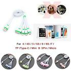 4 in 1 Multi USB Charger Charging Cable Cord For Cell Phone iPhone 6 7 6s 7p BF