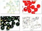 CHRISTMAS CRAFTS - 50 CRYSTAL GLASS AB PLATED ROUND JEWELLERY CRAFT BEADS - 8mm