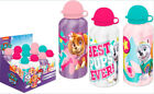 2 x PAW PATROL SKYE ALUMINIUM BOTTLE DRINK WATER TRAVEL FLASK KIDS - FOR GIRLS