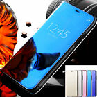 Luxury Acrylic Mirror PU Leather Flip Stand Case Cover For iphone 10 X  8 7 Plus