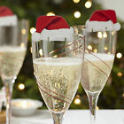 10/20/30pcs Xmas Hats Champagne Wine Glass Caps Christmas Party Gift Decor HOT