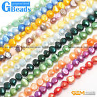 """Assorted Colors 6-7mm Freeform Gemstone Pearl Beads Free Shipping Strand 13"""""""