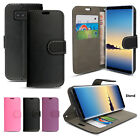 Black Pink Leather Flip Wallet Leather Case Cover For Samsung Galaxy Note 8