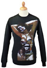 SALE! NEW MENS FLY53 'CONJURE' RETRO 70S INDIE GRAPHIC SWEATSHIRT IN BLACK K46