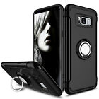 Samsung S9 S9+ S8 S8+ Note 8 Shockproof Ring Holder Stand Case Temper Glass