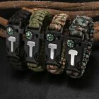 Paracord Survival Bracelet - Whistle Fire Starter Flint Scraper - Compass Kit TU