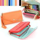Womens Ladies Wrist Leather Bag Wallet Purse Case Handbag For iphone K0E1 01