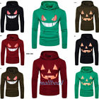 Men's Smile Pullover Hoodie Hooded Sweatshirt Coat Jacket Outwear Sweater Newest