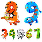Animal Number Foil Balloons Kids Party Birthday Wedding Decor Ballon Child Cute
