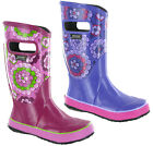 BOGS Girls Wellingtons Boots Floral Rubber Waterproof RB Pansies Cushioned 72087
