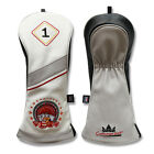 Craftsman Golf Roulette Poker Leather 1 F H Driver Hybrid & Fairway Head Covers