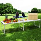 Adjustable Height Folding Table In/Outdoor Camping Picnic Table 4 Type