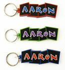 Boys name keyrings - bendy key ring - various names and colours available
