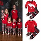 Women Men Kids Deer Sleepwear Nightwear Family Matching Christmas Pajamas Set