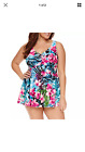 NEW $104 Le Cove Swim Dress Bathing Suit Womens 16W 24W Floral Multi Colors