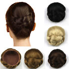 Womens Lady Chignon Synthetic Updo Hairpiece Clip-In Hair Bun Extension New WF