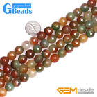 "Natural Gemstone Red Green Agate Faceted Round Beads Free Shipping 15"" 10mm 12mm"