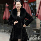 Women Winter Imitation Fox Mink Long Fur Coat Overcoat Outwear