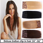 USA STOCK! Deluxe 18 inch Indian Remy Human Hair Clip In Extensions 9pcs & 175g